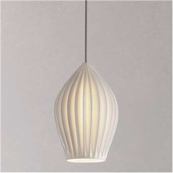 Original BTC Fin Large Pendant Light, White (H26 x W18 x D18cm)