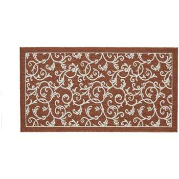 Origins Lusso Outdoor Rug - Floral Terracotta (H120 x W170cm)