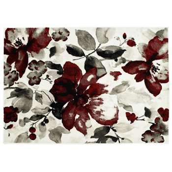 Origins Watercolour Rug - Red (H120 x W170cm)