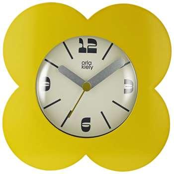 Orla Kiely Flower Petal Alarm Clock, Dandelion (H15 x W15 x D5.5cm)