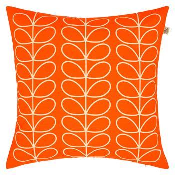 Orla Kiely Linear Stem Cushion, Persimmon (50 x 50cm)