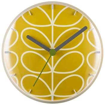 Orla Kiely Linear Stem Wall Clock, Dandelion (H30 x W30 x D6.5cm)