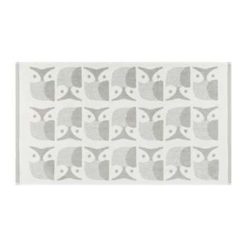 Orla Kiely - Owl Bath Mat - Light Granite (H50 x W90cm)