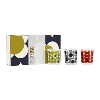 Orla Kiely - Shadow Flower Mosaic Mini Candle Gift Set