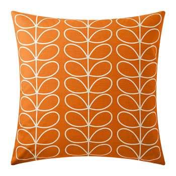 Orla Kiely - Small Linear Stem Reversible Cushion - Persimmon (H50 x W50cm)