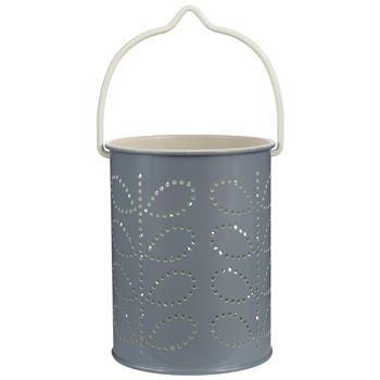 Orla Kiely Tealight Lantern Grey