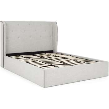 Ormond King Size Ottoman Storage Bed, Chic Grey (H120 x W166 x D225cm)
