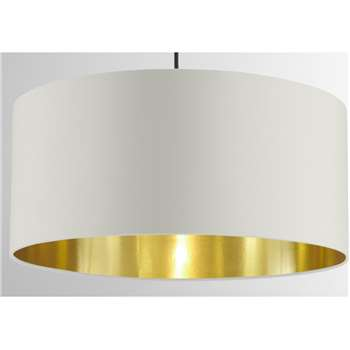 Oro Pendant Shade, Clay White & Brass (H20 x W45 x D45cm)
