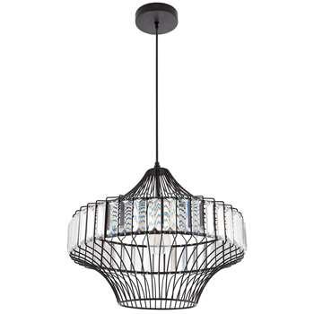 Orosi Pendant Ceiling Light Black (H150 x W40 x D40cm)
