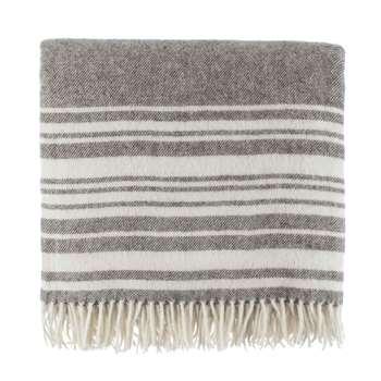 Oroya Alpaca Blanket, Dark Brown, Cream & Beige (135 x 175cm)