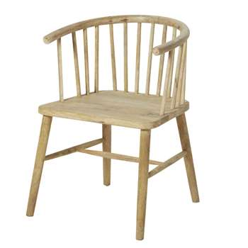 Orsen Mango Wood Armchair (H72 x W53 x D52cm)