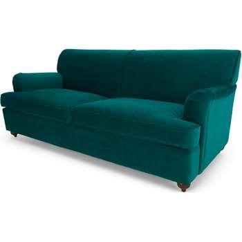 Orson 3 Seater Sofa Bed, Seafoam Blue Velvet (H80 x W188 x D96cm)