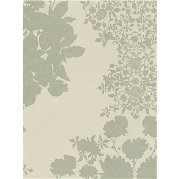 Osborne & Little Salcey Wallpaper, Linen / Gilver, W5792-05
