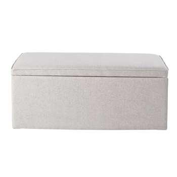 OSKAR Grey 2-Seater Day Bed with Storage (H39.5 x W80 x D40cm)