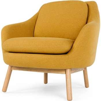 Oslo Accent Chair, Yolk Yellow (86 x 87cm)
