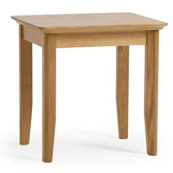 Oslo Natural Solid Oak Dressing Table Stool (H47 x W47 x D40cm)