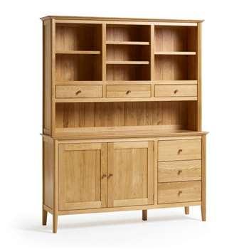 Oslo Natural Solid Oak Large Dresser (H190 x W155 x D43cm)