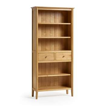 Oslo Natural Solid Oak Tall Bookcase (H192 x W90 x D33cm)