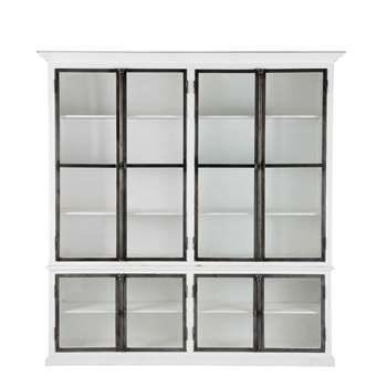 OSTENDE White China Cabinet (H220 x W210 x D40cm)