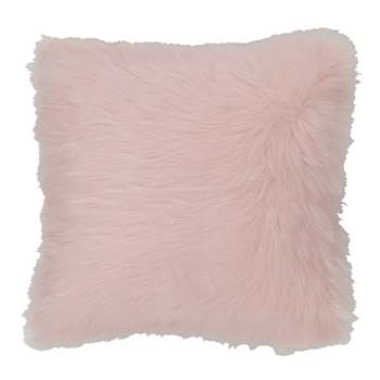 OUMKA faux fur cushion in pink (45 x 45cm)