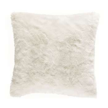 OUMKA faux fur cushion, white (45 x 45cm)