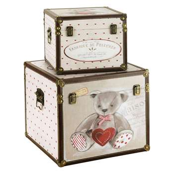 OURSON Pair of Teddy chests (33 x 35cm)