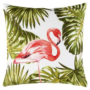 TALLULAH Outdoor Cushion with Pink Flamingo Print (H50 x W50cm)