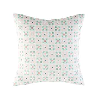 Outdoor Cushion with Pink Graphic Motifs (45 x 45cm)