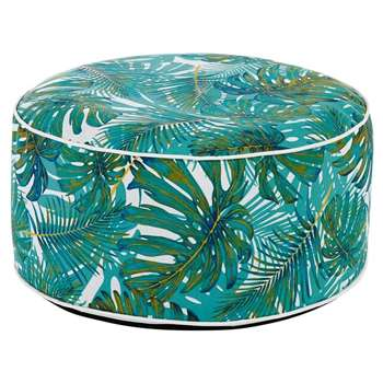 YANA Outdoor Pouffe with Plant Print (23 x 53cm)