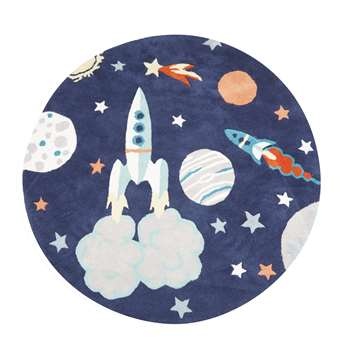 Outer Space Circle Rug (Diameter 100cm)