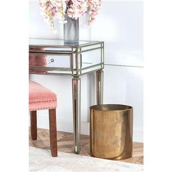 Oval Bin / Planter - Brass (H35 x W30 x D20cm)