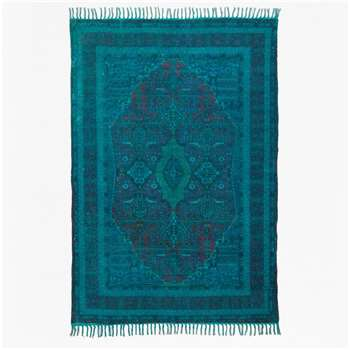 Overdyed Chenille Rug - Teal (H180 x W120cm)
