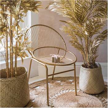Overlapping Circles Wire Chair (H66 x W61 x D84cm)