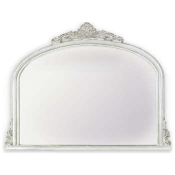 Overmantle Mirror - Amarone White (91 x 119cm)