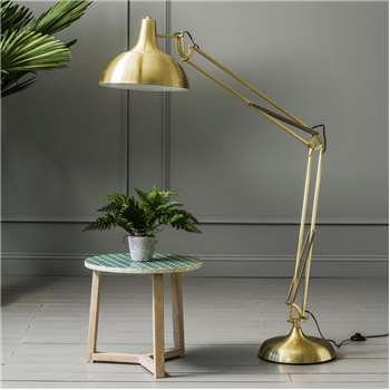 Oversized Brass Angle Floor Lamp (H180 x W90cm)
