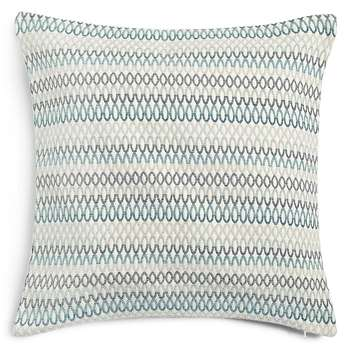 Oversized Geometric Chenille Cushion, Duck Egg (H58 x W58cm)
