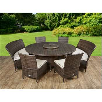 Oxford Dining Set in Chocolate and Cream (83 x 62cm)