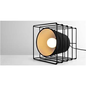 Ozzy Cube Table Lamp, Black (18 x 18cm)