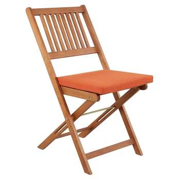 Pack of 2 Garden Chair Seat Pads - Burnt Orange (39 x 42cm)