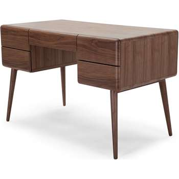Paco Desk, Walnut (76 x 120cm)