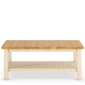 Padstow Coffee Table Cream (H41 x W100 x D60cm)