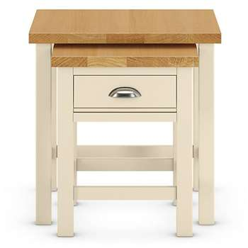 Padstow Nest Tables Cream (H55 x W55 x D50cm)