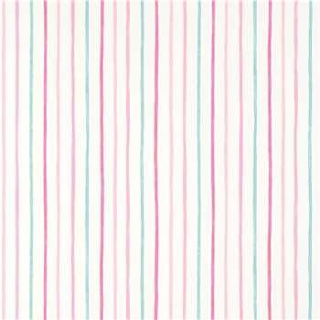 Painterly Stripe Pink Wallpaper