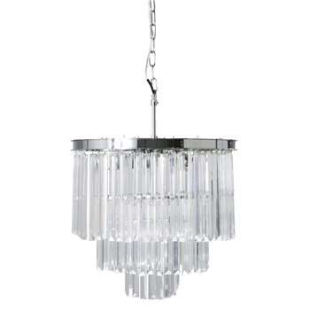 PALACIO Chrome Metal and Glass Drop Bead Chandelier (61 x 50cm)