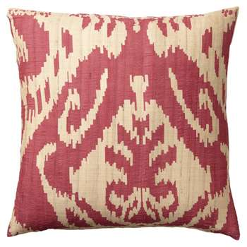 Palau Silk Cushion Cover, Large - Red (51 x 51cm)