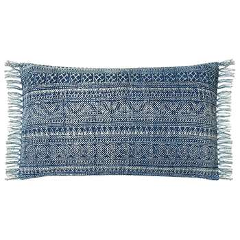 Palayam Cushion Cover, Small - Blue (35 x 60cm)
