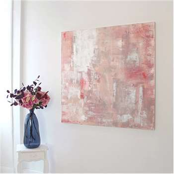 Pale Pink Abstract on Canvas (H120 x W120cm)