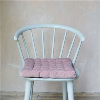Pale Rose Velvet Seat Pad (H40 x W40cm)