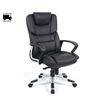 Palermo Leather Executive Chair, Black