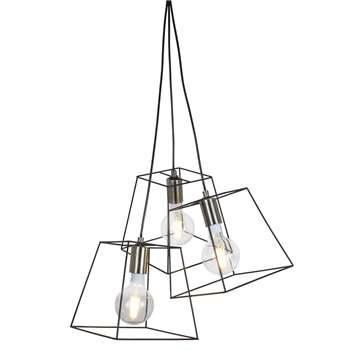 Palido 3 Light Ceiling Light Black (H116 x W46 x D46cm)